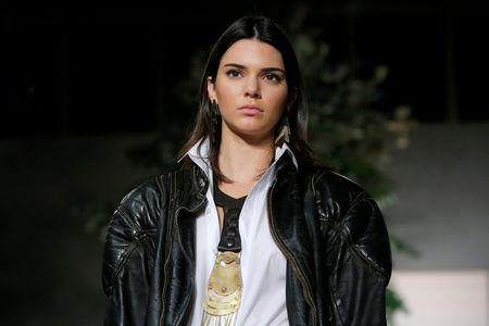 FILE PHOTO: Model Kendall Jenner presents a creation from the Ralph Lauren Spring/Summer 2017 collection at New York Fashion Week in Manhattan, New York, U.S.
