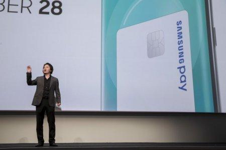 FILE PHOTO: Injong Rhee, Executive Vice President and Head of Samsung Pay at Samsung Electronics, speaks at the Samsung Galaxy Unpacked 2015 event in New York August 13, 2015. REUTERS/Andrew Kelly