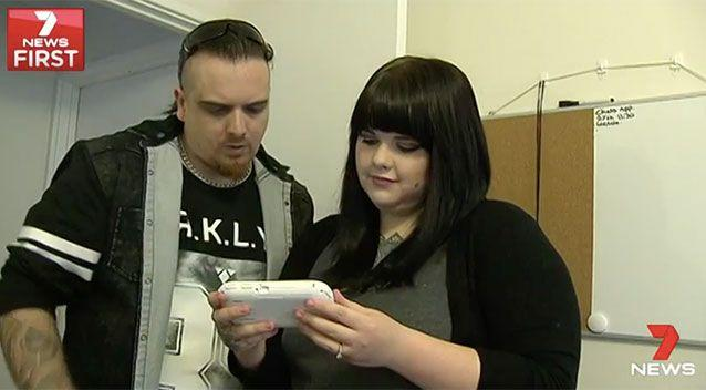 Perth couple Katie and Sean bought a baby monitor thinking it would give them peace of mind. Source: 7 News