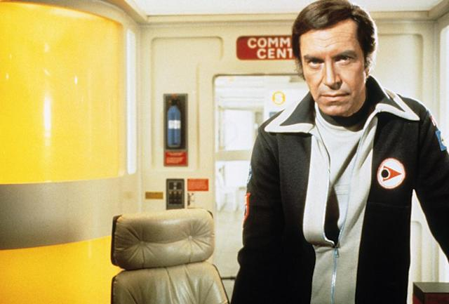 <p>Starring opposite his then-wife, Barbara Bain, Landau played an astronaut stranded on an out-of-orbit moon in this high-budget British sci-fi drama, which aired for two seasons. (Photo: Everett) </p>