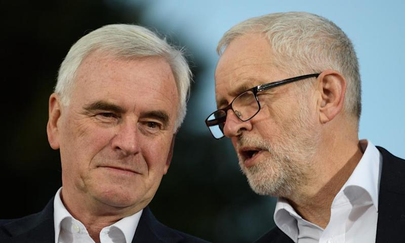 Jeremy Corbyn and John McDonnell.