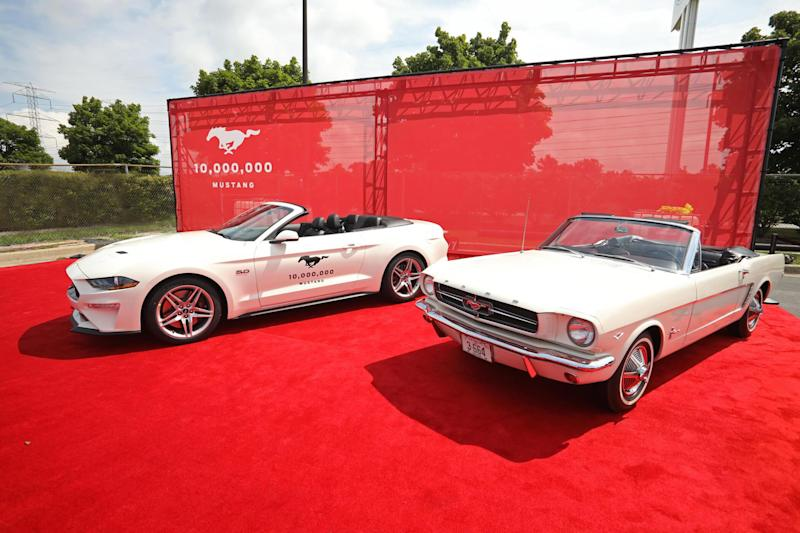 How does the 10 millionth Ford Mustang compare with the first?