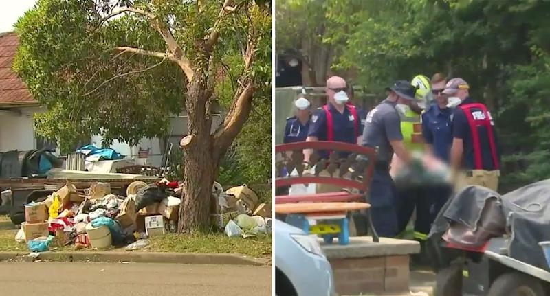 Home in Canley Vale where elderly hoarder was trapped beneath belongings for nearly 15 hours.