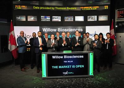 Willow Biosciences Inc. Opens the Market (CNW Group/TMX Group Limited)