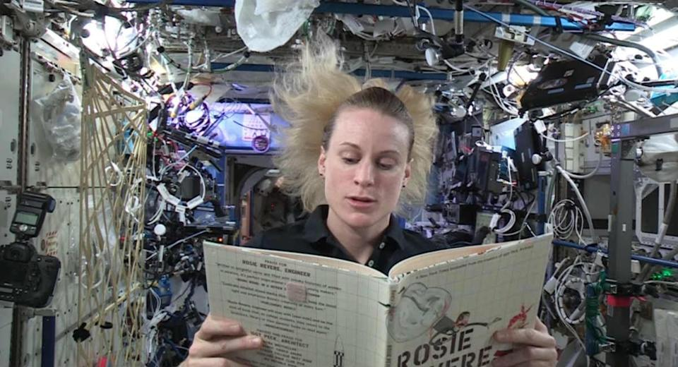 Watch An Astronaut Read 'Rosie Revere, Engineer' From Space