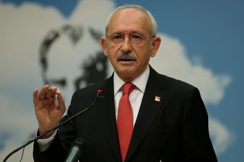 FILE PHOTO: Kemal Kilicdaroglu, leader of Turkey's main opposition Republican People's Party (CHP), attends a news conference in Ankara