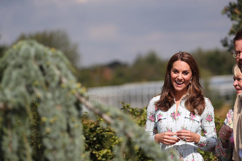The Duchess Of Cambridge opened a new play garden at RHS Garden Wisley in Surrey [Photo: PA]