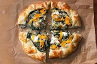 """A vegetable tart like this one is just as easy to pack and eat as a sandwich—but way more elegant. <a href=""""https://www.epicurious.com/recipes/food/views/corsican-greens-pie-with-butternut-squash-and-three-cheeses-51253450?mbid=synd_yahoo_rss"""" rel=""""nofollow noopener"""" target=""""_blank"""" data-ylk=""""slk:See recipe."""" class=""""link rapid-noclick-resp"""">See recipe.</a>"""