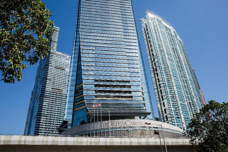 The Ritz-Carlton is located in Hong Kong's highest skyscraper