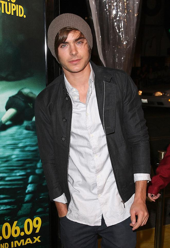 """<a href=""""http://movies.yahoo.com/movie/contributor/1808543881"""">Zac Efron</a> at the Los Angeles premiere of <a href=""""http://movies.yahoo.com/movie/1808406490/info"""">Watchmen</a> - 03/02/2009"""