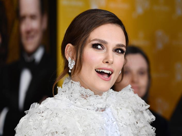 """Keira Knightley attends the """"Misbehaviour"""" World Premiere at The Ham Yard Hotel, London."""