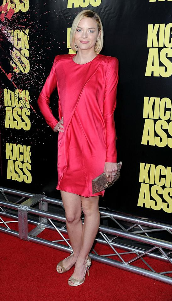 "<a href=""http://movies.yahoo.com/movie/contributor/1800157425"">Jaime King</a> at the Los Angeles premiere of <a href=""http://movies.yahoo.com/movie/1810063108/info"">Kick-Ass</a> - 04/13/2010"
