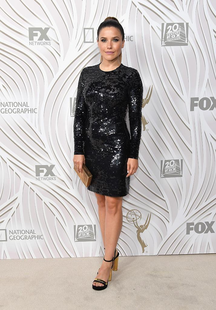 <p>Sophia Bush, who exited <em>Chicago P.D.</em> after four seasons, attended the Fox Broadcasting Co., Twentieth Century Fox Television, FX, and <em>National Geographic</em> party at Vibiana. (Photo: Neilson Barnard/Getty Images) </p>