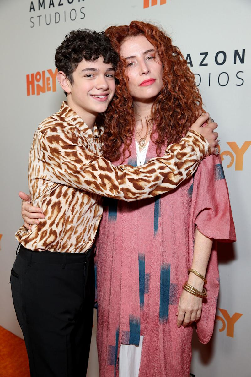 Alma Har'el with Noah Jupe, the star of Honey Boy (Photo: Rich Fury via Getty Images)