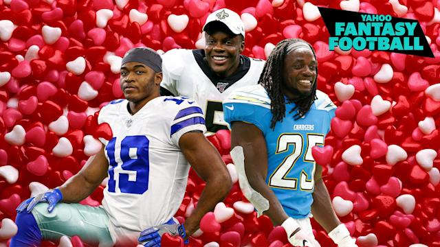 Liz Loza & Matt Harmon play Valentine's Day matchmaker with the 2020 NFL free-agent class-members Amari Cooper, Teddy Bridgewater & Melvin Gordon on the latest Yahoo Fantasy Football Podcast. (Getty Images/Yahoo Sports/Michael Wagstaffe)