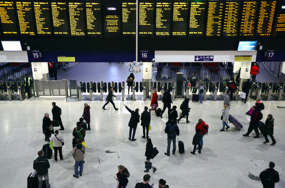 <em>Commuters face significant changes to normal services (Getty)</em>