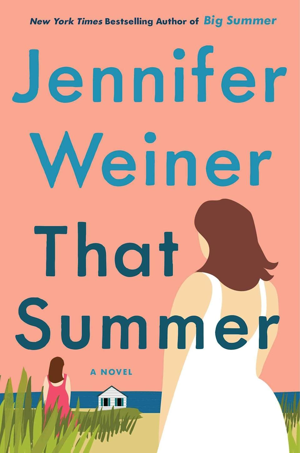 <p>In <span><strong>That Summer</strong></span> by Jennifer Weiner, a woman named Daisy Shoemaker becomes fascinated by the life of a woman whose emails she begins receiving by mistake. Diana Starling's life as a high-powered businesswoman seems exciting and foreign compared to Daisy's life as a suburban mom. However, there's more to Diana than meets the eye, and Daisy soon realizes their connection has nothing to do with fate.</p> <p><em>Out May 11</em></p>