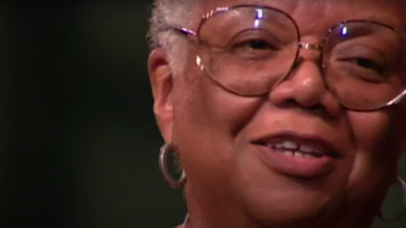 "Lucille Clifton recites ""Won't You Celebrate with Me"" in"