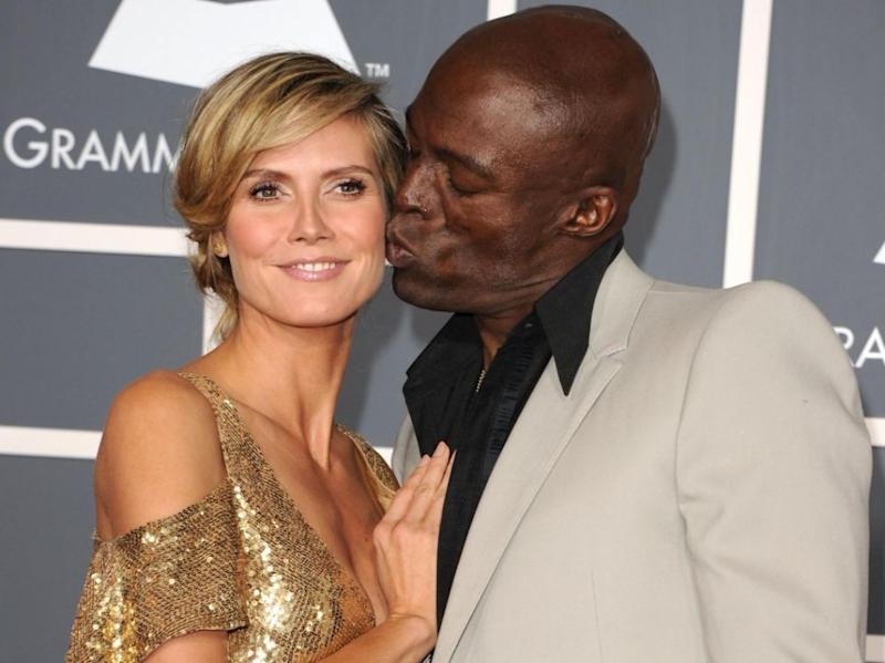 Seal hasn't responded to comments his ex-wife, seen here together before split, also worked with Weinstein. Source: Getty