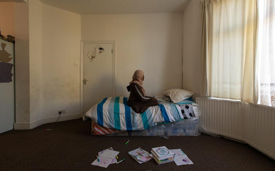 Mariam and her three children live in this one room - LAURA DODSWORTH