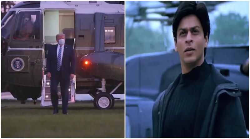 Donald Trump's Return to White House in Helicopter is Reminding People of K3G Scene of Shah Rukh Khan's Arrival and It's The Funniest Crossover You Will See! (Watch Viral Video)
