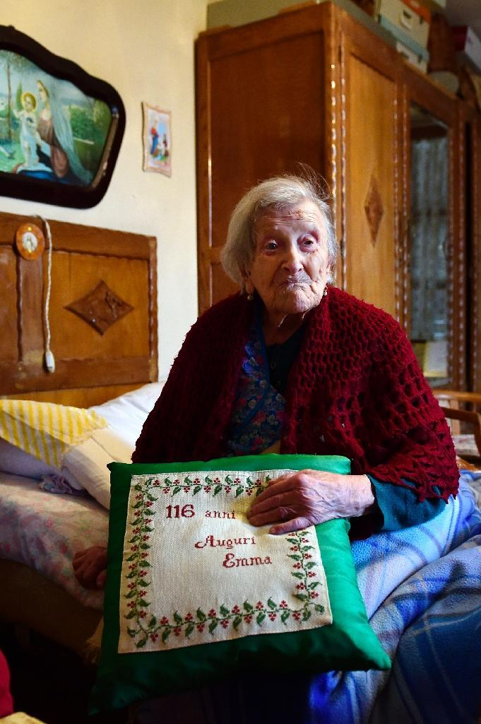Emma Morano reached the aged of 117 despite an extraordinarily tough life and a diet that flouts almost every piece of established medical wisdom (AFP Photo/Olivier Morin)