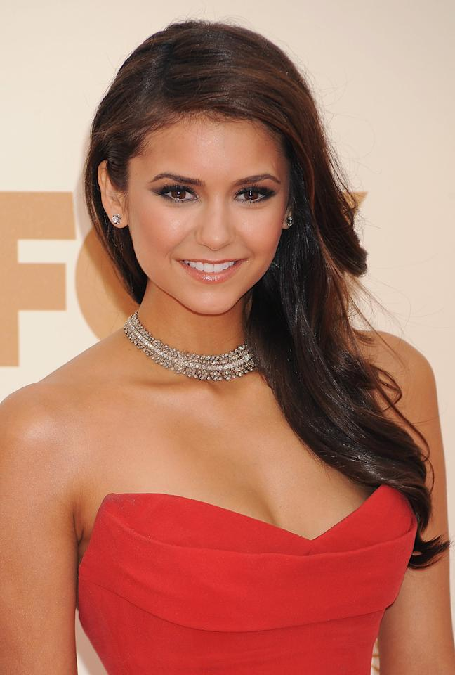 LOS ANGELES, CA - SEPTEMBER 18: Nina Dobrev arrives at the 63rd Primetime Emmy Awards at the Nokia Theatre L.A. Live on September 18, 2011 in Los Angeles, California. (Photo by Jeffrey Mayer/WireImage)