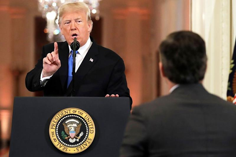 White House suspends press pass of CNN reporter Jim Acosta class=