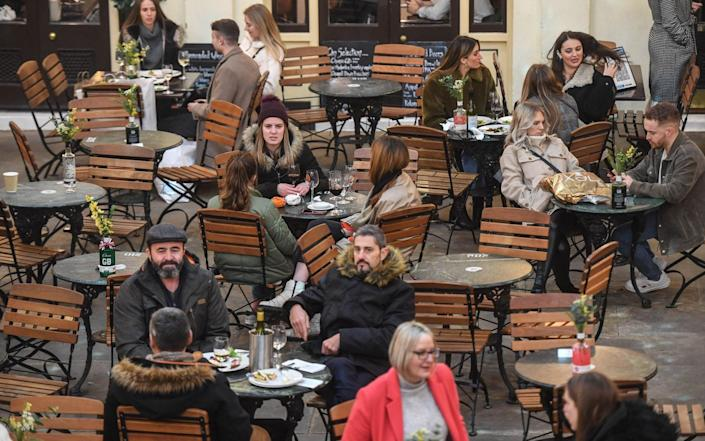 After months of enforced al fresco dining, indoor hospitality will reopen tomorrow - Peter Summers/Getty Images
