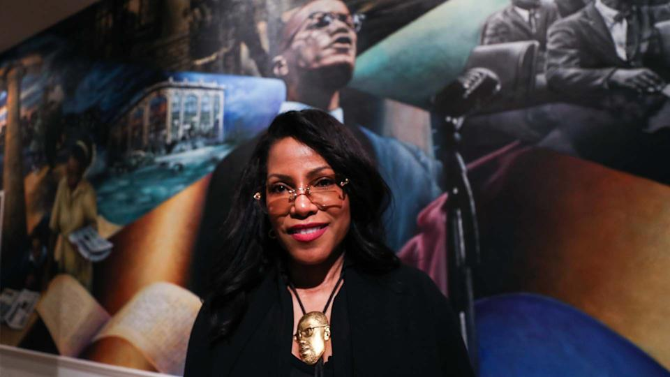 Ilyasah Shabazz at the 54th death anniversary of Malcolm X. (Photo: Getty)