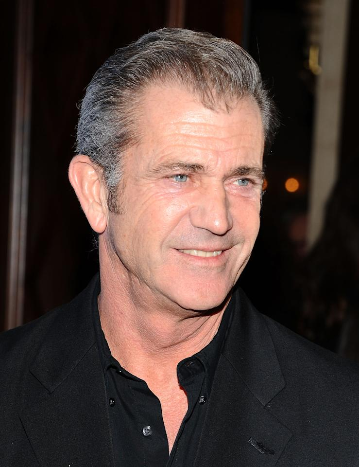 BEVERLY HILLS, CA - JANUARY 14:  Actor Mel Gibson arrives at the Cinema For Peace event benefitting J/P Haitian Relief Organization held at Montage Hotel at Montage Beverly Hills on January 14, 2012 in Beverly Hills, California.  (Photo by Angela Weiss/Getty Images)