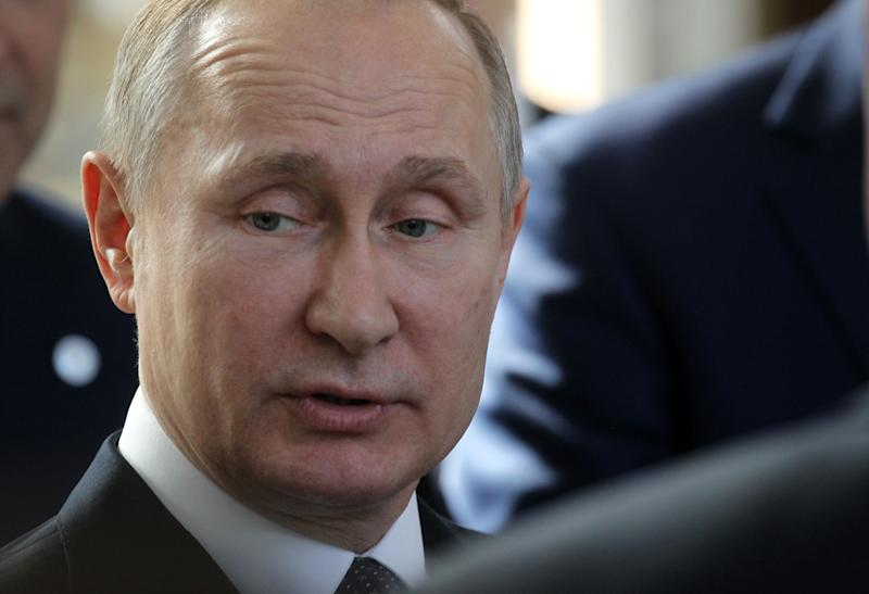 Earlier this week, Russian President Vladimir Putin denied that Russia was responsible for a recent chemical attack in Syria. (Mikhail Svetlov via Getty Images)
