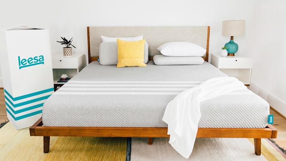 This weekend, get a Leesa for less. And no need to keep that box in your bedroom — you won't be returning this baby. (Photo: Leesa.com)