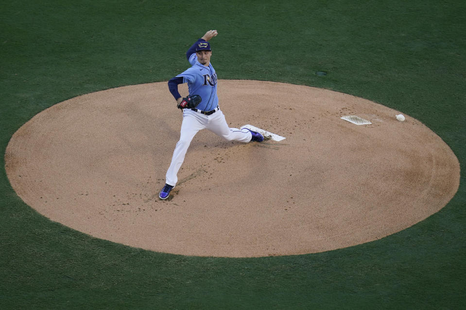 Blake Snell。(AP Photo/Gregory Bull)