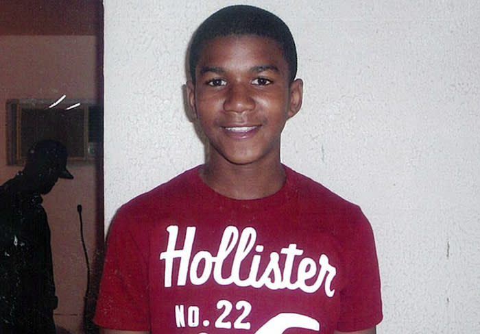 FILE - This undated file family photo shows Trayvon Martin. Trayvon, 17, was slain in a 2012 shooting in Sanford, Fla., by neighborhood crime-watch captain George Zimmerman. Zimmerman's defense attorney began his final arguments Friday, July 12, 2013, trying to convince six jurors that the neighborhood watch volunteer acted in self-defense when he fatally shot 17-year-old Trayvon Martin. (AP Photo/Martin Family, File)