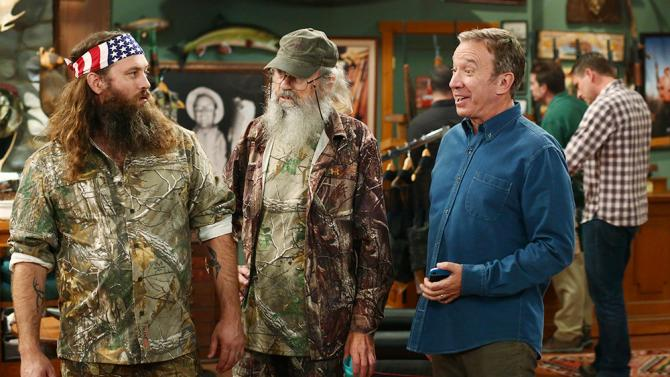 Wille and Si Robertson guest-starred on the season premiere of 'Last Man Standing.'
