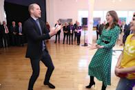 The Duke and Duchess of Cambridge juggling during a special event at the Tribeton restaurant. (Press Association)
