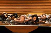 US rapper Megan Thee Stallion had a big night at the Grammys with multiple wins and an electric performance