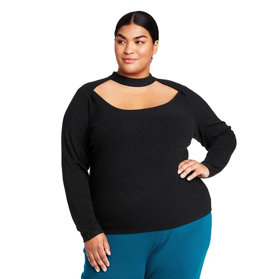 <p>We love a good cutout sweater. The <span>Victor Glemaud x Target Cutout Crewneck Sweater</span> ($40) is both sexy and chic.</p>