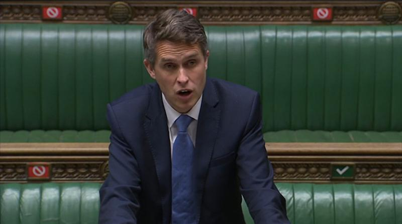 Education Secretary Gavin Williamson in the House of Commons, London, answering an urgent question on the Government's plans for reopening schools during the coronavirus pandemic.