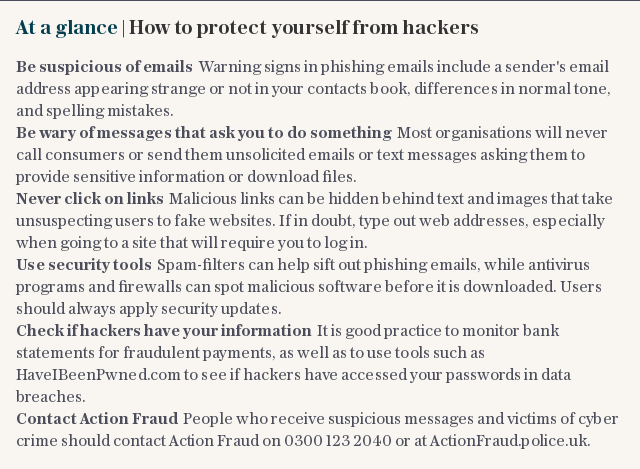 At a glance | How to protect yourself from hackers
