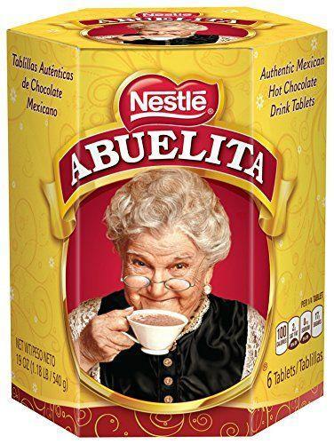 """<p><strong>Abuelita</strong></p><p>amazon.com</p><p><strong>$2.83</strong></p><p><a href=""""https://www.amazon.com/dp/B00CWTYH06?tag=syn-yahoo-20&ascsubtag=%5Bartid%7C2164.g.36792766%5Bsrc%7Cyahoo-us"""" rel=""""nofollow noopener"""" target=""""_blank"""" data-ylk=""""slk:Shop Now"""" class=""""link rapid-noclick-resp"""">Shop Now</a></p><p>This Mexican hot chocolate brand has been around for over 80 years! Try making it on the stovetop with a traditional molinillo whisk for extra foamy goodness. </p>"""