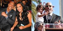 """<p>Dwayne """"The Rock"""" Johnson has three daughters. His oldest Simone was born in 1997 and her mother is Dwayne's first-wife <a href=""""https://www.marieclaire.com/celebrity/news/a27193/dany-garcia-dwayne-johnson-interview/"""" rel=""""nofollow noopener"""" target=""""_blank"""" data-ylk=""""slk:Danny Garcia"""" class=""""link rapid-noclick-resp"""">Danny Garcia</a>. Jasmine, who has been <a href=""""http://www.revelist.com/celebrity/zendaya-the-rocks-daughter/10889/on-thursday-the-internet-made-a-shocking-discovery-dwayne-the-rock-johnsons-daughter-jasmine-looks-exactly-likezendaya/1"""" rel=""""nofollow noopener"""" target=""""_blank"""" data-ylk=""""slk:compared to a young Zendaya"""" class=""""link rapid-noclick-resp"""">compared to a young Zendaya</a>, was born in 2015 and Tiana, was born in April 2018. Dwayne's current partner, Lauren Hasian, is both of their mother.</p>"""