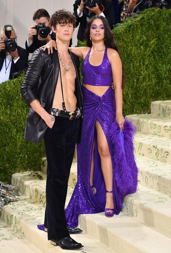 Shawn Mendes and Camila Cabello at the 2021 Met Gala.