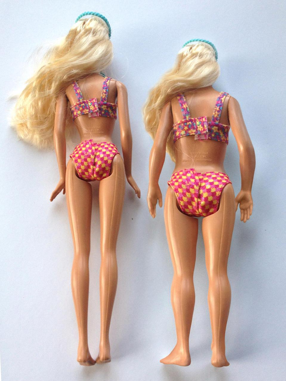 """<div class=""""caption-credit""""> Photo by: Nickolay Lamm</div>Barbie at a human scale, Lamm said, would have the following unrealistic measurements: 69 inches tall with a 36-inch bust, 18-inch waist, 33-inch hips, 22-inch head circumference, and a 9-inch neck circumference."""