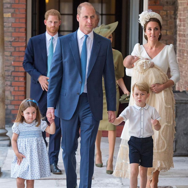 Royal Family steps out for Prince Louis' christening