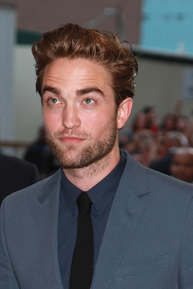 "Robert Pattinson at the New York premiere of ""Cosmopolis"" on August 13, 2012."