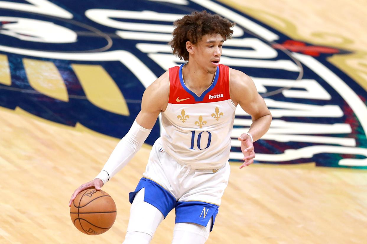Jaxson Hayes of the New Orleans Pelicans