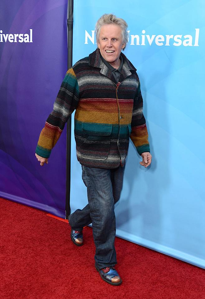 """Gary Busey attends NBCUniversal's """"2013 Winter TCA Tour"""" Day 1 at Langham Hotel on January 6, 2013 in Pasadena, California."""