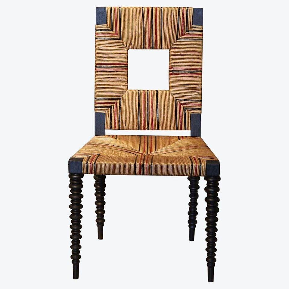 """<p><strong>Pinto Paris</strong></p><p>theinvisiblecollection.com</p><p><a href=""""https://theinvisiblecollection.com/product/pinto-paris-cottage-chair/"""" rel=""""nofollow noopener"""" target=""""_blank"""" data-ylk=""""slk:Shop Now"""" class=""""link rapid-noclick-resp"""">Shop Now</a></p><p>Who knew Arts and Crafts could feel so fresh, like in this straw and ebonized French oak chair? <br></p>"""